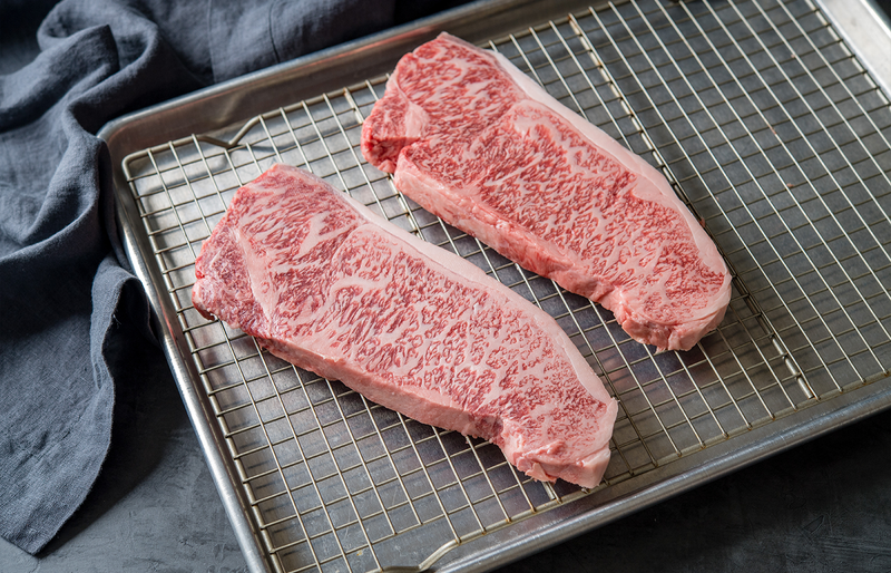 A5 Japanese Wagyu Beef Portioned Striploin Steaks (2 pcs)