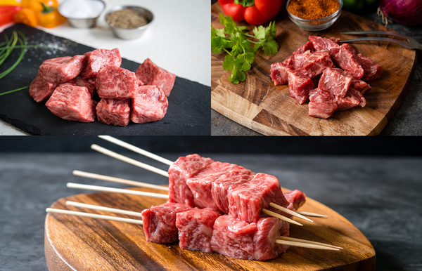 A5 Japanese Wagyu & American Wagyu Steak Cube Flight