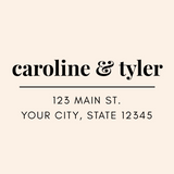 Custom Modern Serif Address Stamp