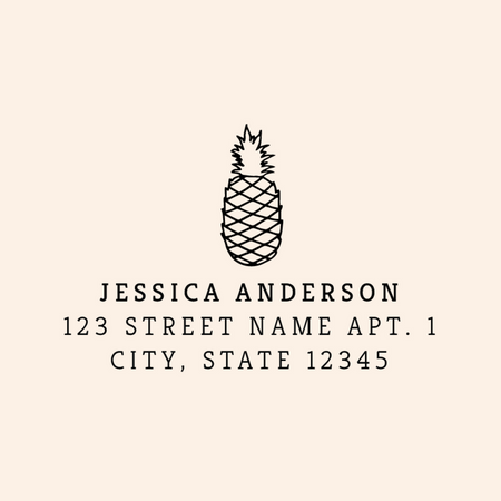Custom Vertical Layout Address Stamp