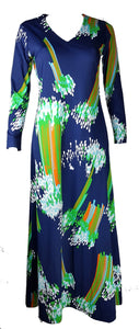 Vintage 1970's | Rare! Lanvin Abstract Maxi Dress