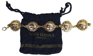 Vintage 90's | Authentic Versace Profumi | Sun God Gold Plated Bracelet