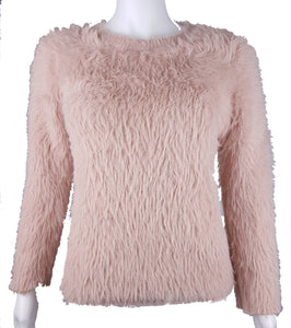 Molly Bracken | Pale Pink Fluffy Sweater