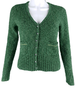 Caslon | Green Sweater Cardigan with Jewel Toned Buttons