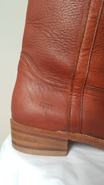 Vintage 1980s Frye Tan Leather Boots | Womens 8.5