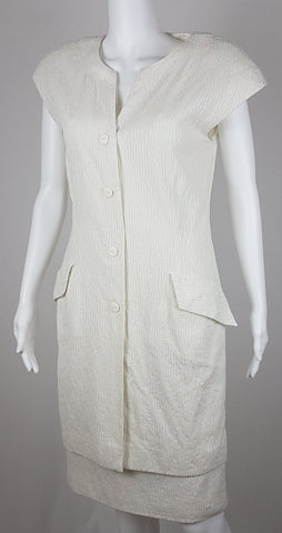 Vintage 70's White Christian Dior Separables Dress
