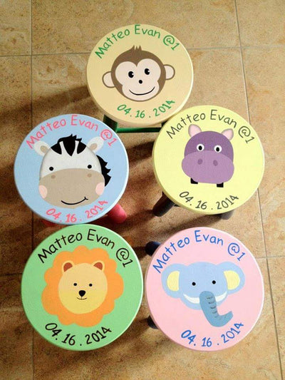 Safari Kiddie Stools