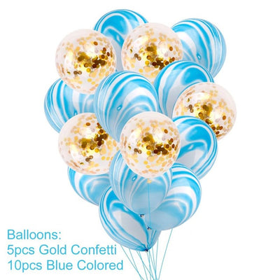 Balloons and Banners Birthday Party Decorations