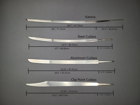 Specs Diagram for Rogue Steel Curved Blades