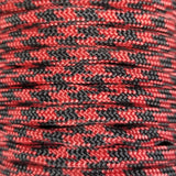 Imperial Red & Black Paracord Detail