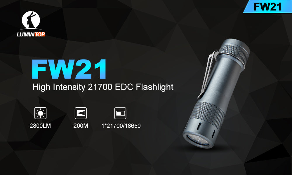 Lumintop FW21 - 2800 lumens - Cold White, with 21700 battery