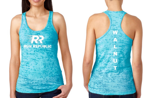 Run Republic Women's Walnut Burnout Tank - Run Republic
