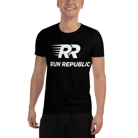 RR All-Over Print Men's Athletic T-shirt - Run Republic