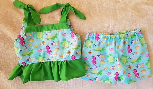 Under the Sea Top & Shorts Set