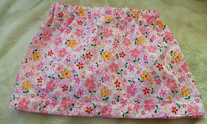 Pink & Yellow Flower Skirt Size 2 - last one