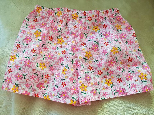 Pink & Yellow Flower Shorts size 1 only - last one