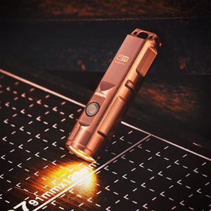 Aurora A9 Copper Rechargeable Keychain Flashlight