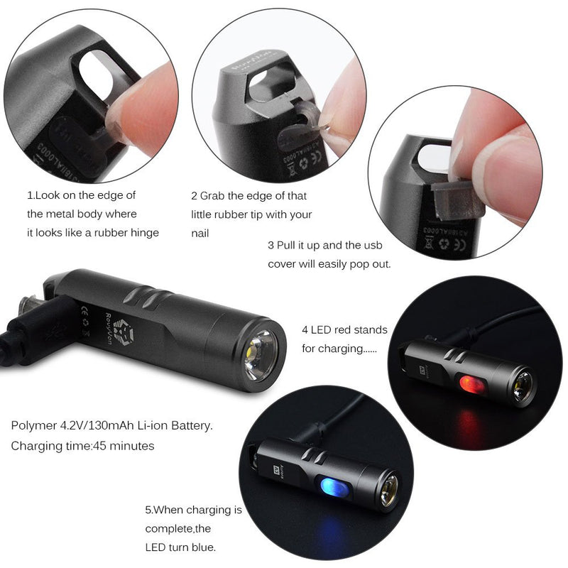 Rovyvon Aurora A3 Aluminum Keychain LED Flashlight