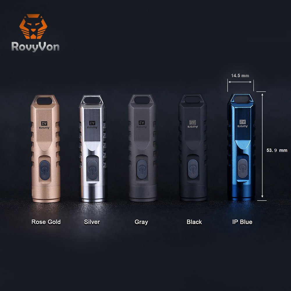 Rovyvon Aurora A2 Stainless Steel Keychain LED Flashlight