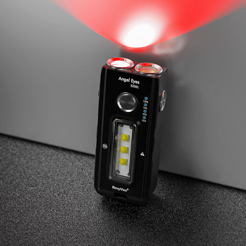RovyVon Angel Eyes E200r Red/Blue Outdoor EDC Flashlight