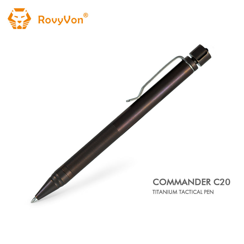 RovyVon Commander C20 Titanium Tactical Pen