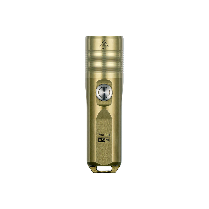 Aurora A23 Pro Aerospace 7075 Al Military Tan EDC Flashlight