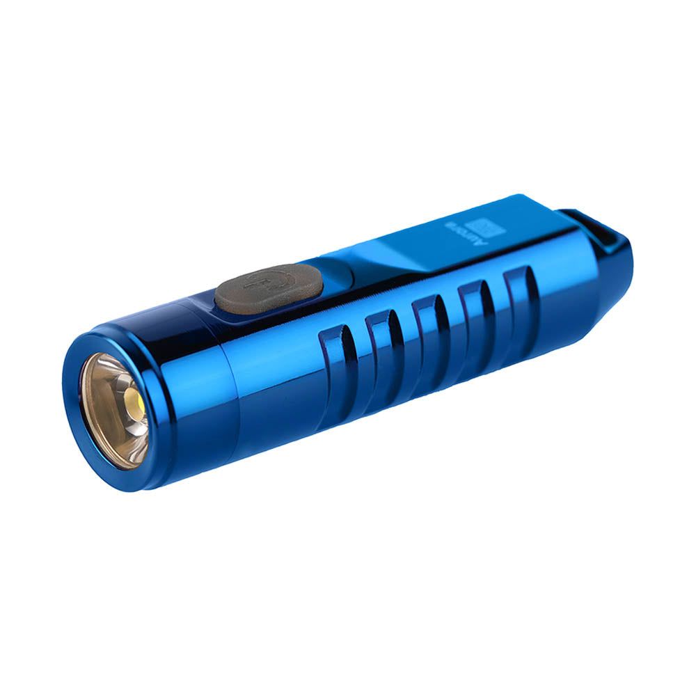 RovyVon Aurora A2 Stainless Steel USB Rechargeable Keychain Flashlight_PVD Blue
