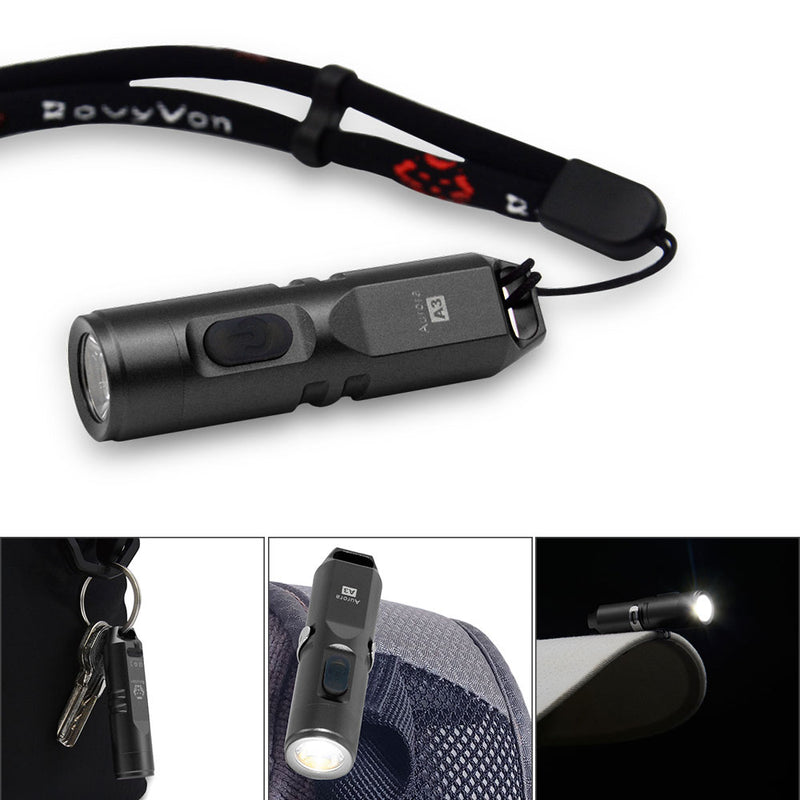 RovyVon Aurora A3 USB Rechargeable Keychain Flashlight