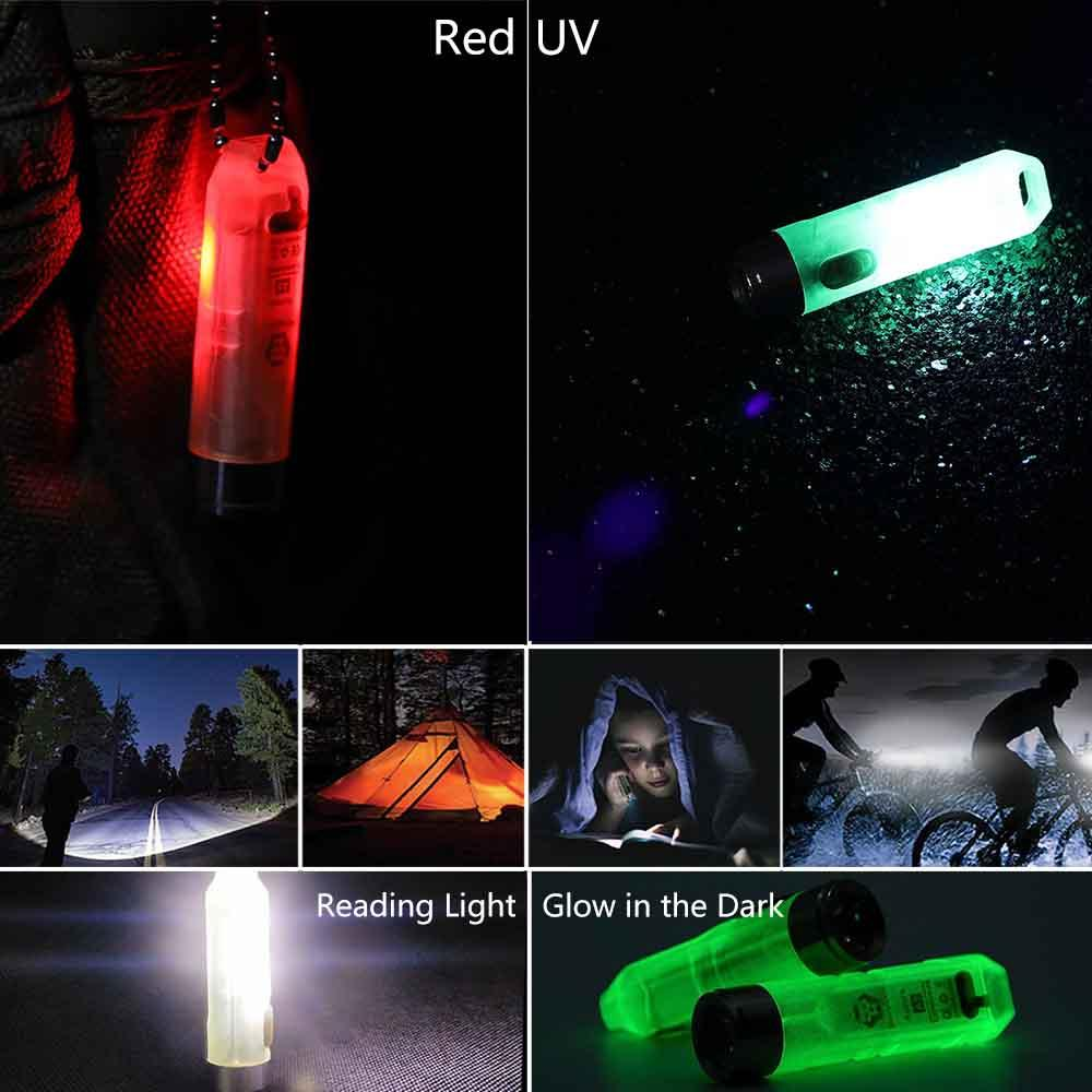 Aurora A5 Glowing Keychain Signal Flashlight