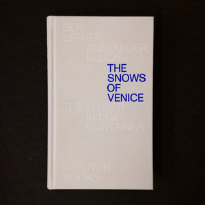 Lerner / Kluge: The Snows of Venice