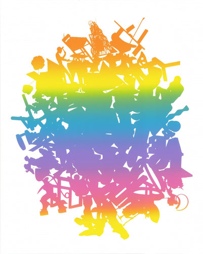 Peter Coffin, Untitled (Rainbow Sculpture Silhouette Pile), 2008