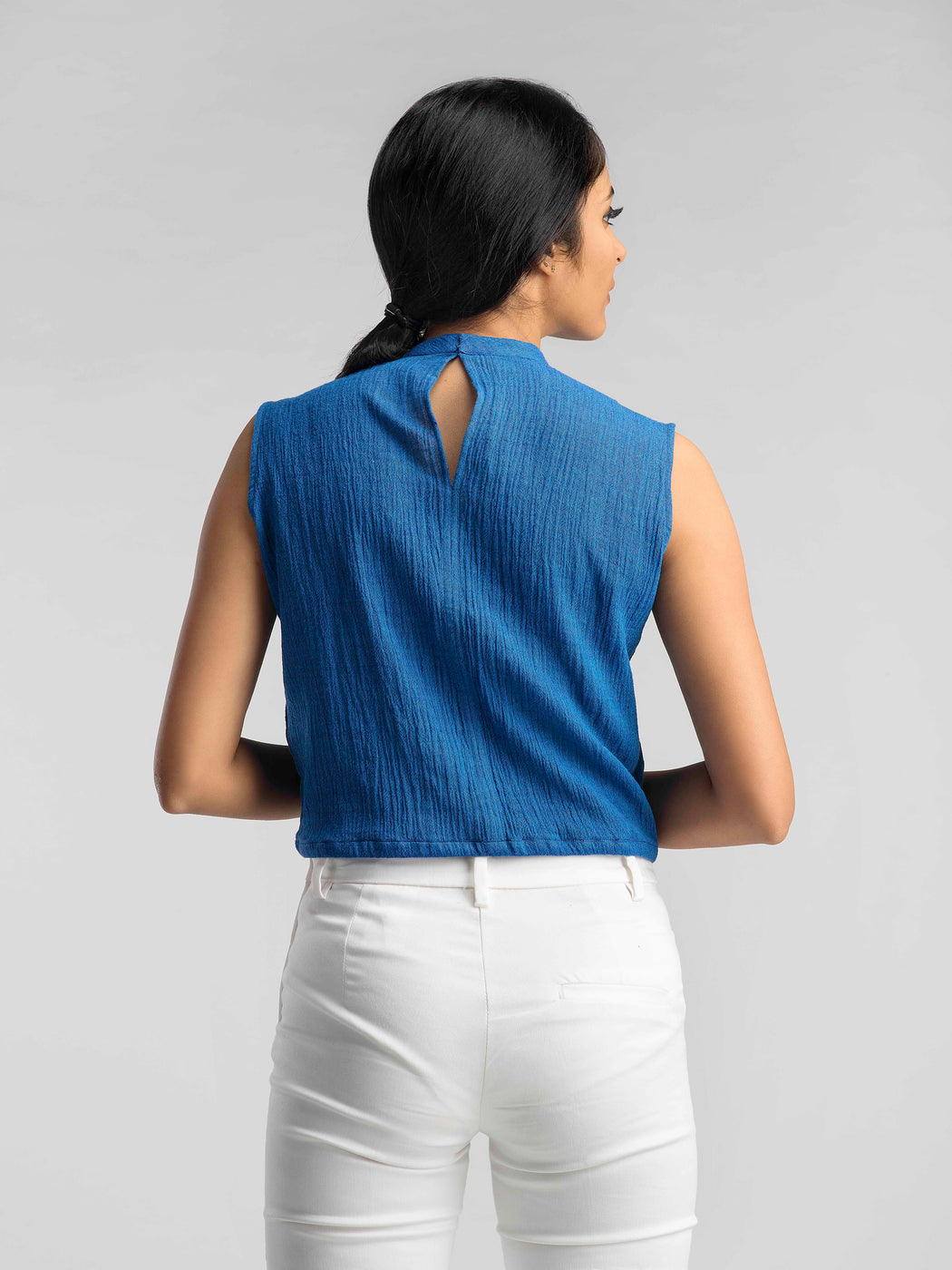 Sunbird Crop Top - Blue