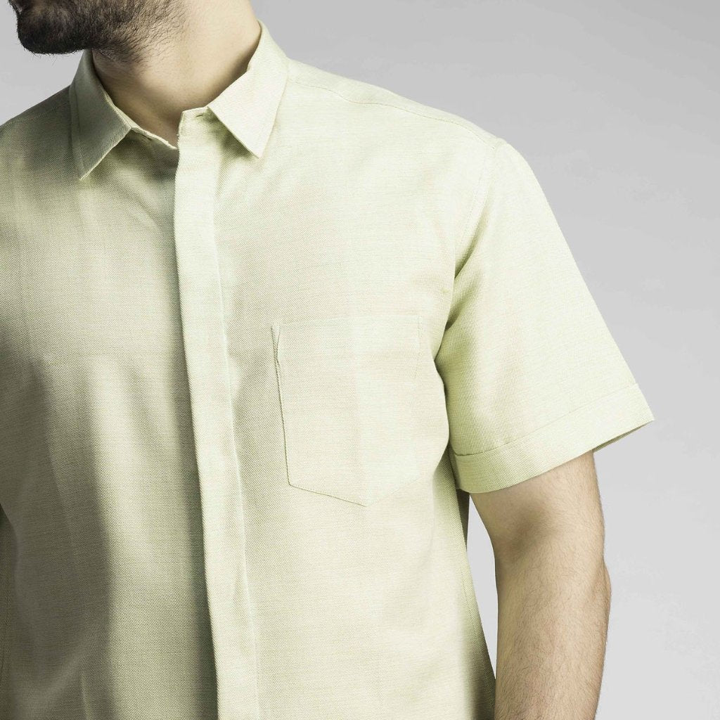 No Formalities Shirt - Powder Pista