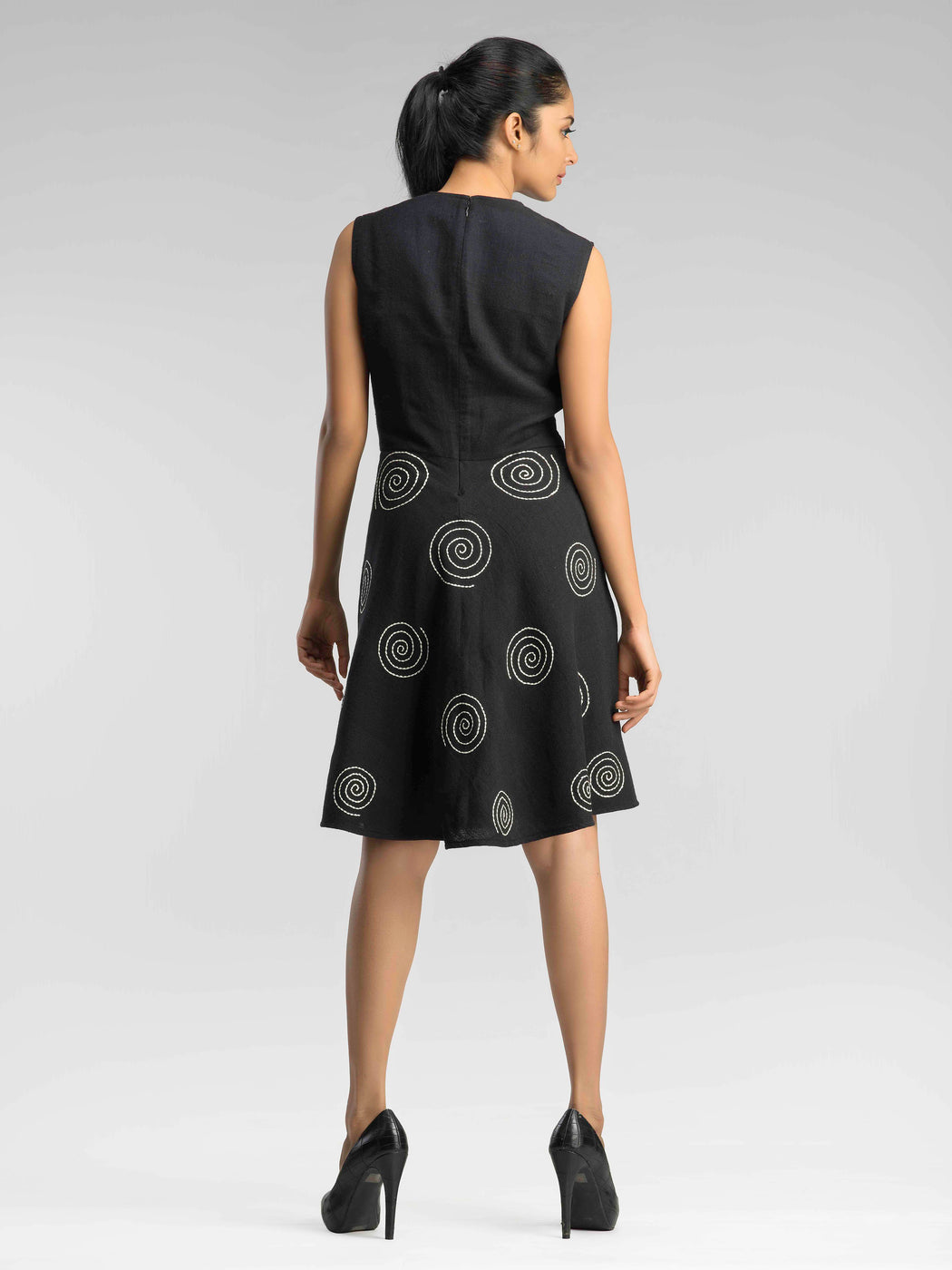 Monsoon Dream Black Skater Dress