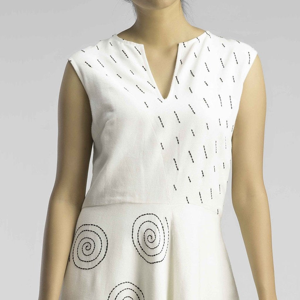 Monsoon Dream White Skater Dress