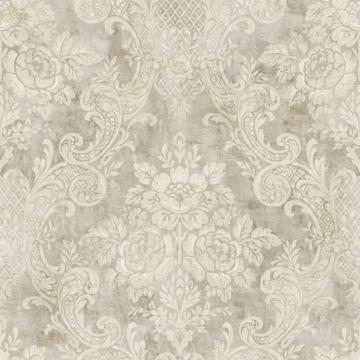 Rustic Painted Damask Wallpaper R4851
