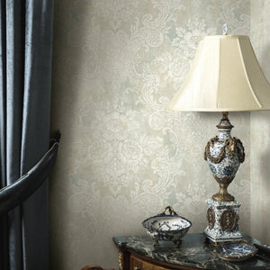 Rustic Painted Damask Wallpaper R4850