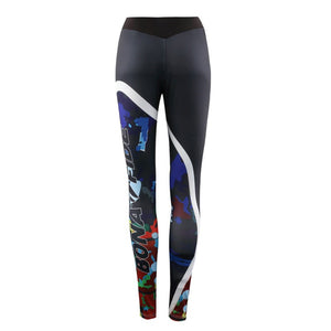 Printed Skinny Fitness Stretchy Sports Leggings
