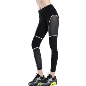 Sexy Net Yarn Joint Sports Tight Leggings