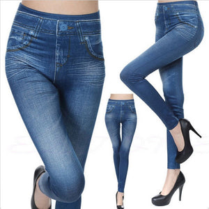 Women's Imitation Denim Jeggings
