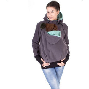 Multifunction Warm Mothers' Kangaroo Hoodie