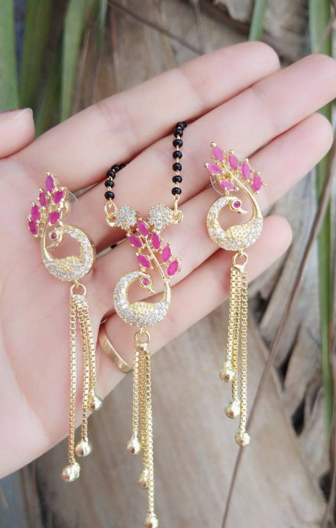 alloy gold plated Mangalsutra for women