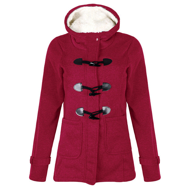 Long Sleeve Women Velvet Lightweight Winter Casual Jacket