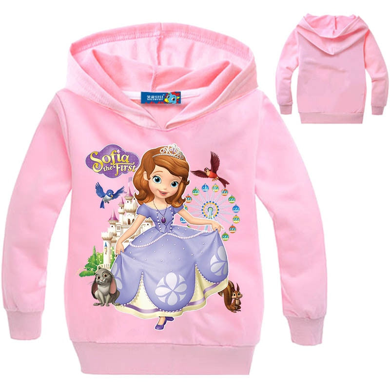 Girls Princess Sophia Printed Hoodie Sweatshirt