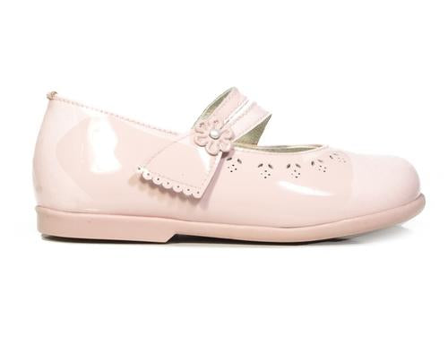 Pink Patucos Infant patent Leather Shoes for Girls - Scarlet Bloom