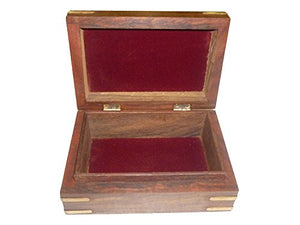 Wooden Inlay and Carving Vintage Jewelry Box
