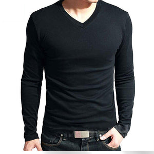 Men's Long Sleeves Cotton Top