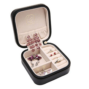 Mini Travel Portable Faux Leather Jewellery Box