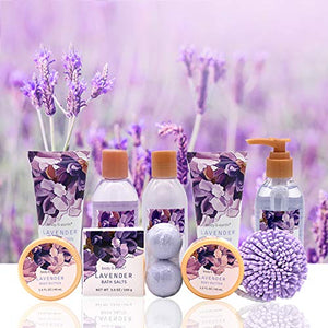 Body and Earth Lavender Scented Bath Spa Gift Set 12 Pieces