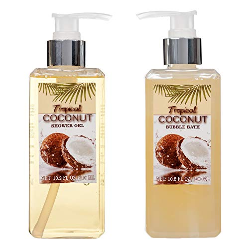 8 Piece Deluxe Tropical Coconut Body and Bath Gift Set
